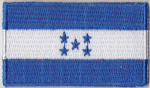 Honduras Embroidered Flag Patch, style 04